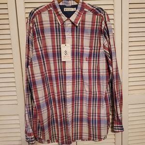 Nautica Heritage Men's Plaid Button Down Shirt